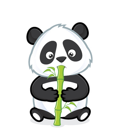 Illustration pour Panda eating bamboo - image libre de droit