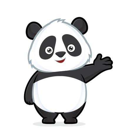 Illustration pour Panda in welcoming gesture - image libre de droit