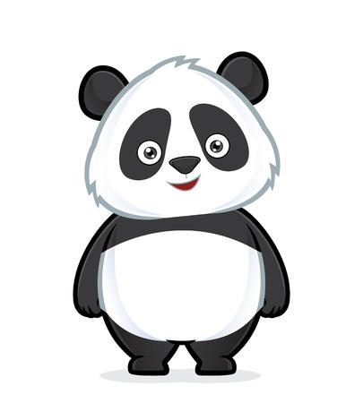 Illustration pour Panda standing - image libre de droit