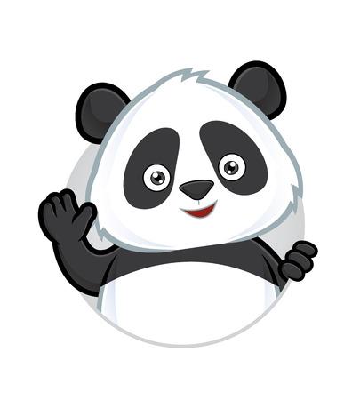 Illustration pour Panda waving - image libre de droit