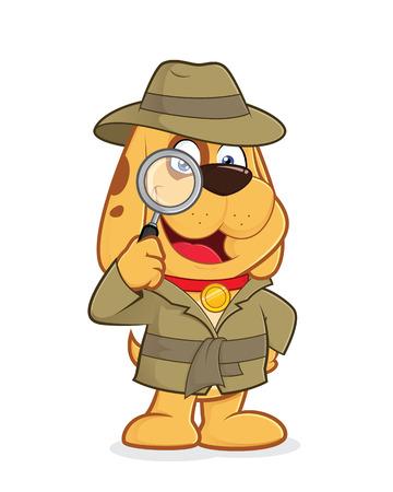 Ilustración de Detective dog - Imagen libre de derechos