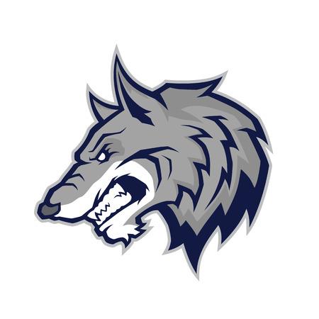 Illustrazione per Wolf head mascot - Immagini Royalty Free
