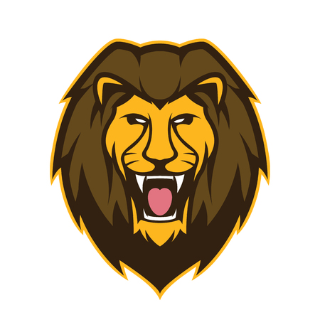 Illustration for Lion head mascot - Royalty Free Image