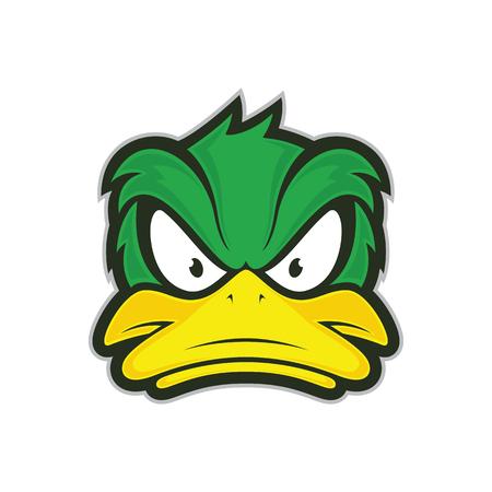 Illustrazione per Angry duck mascot - Immagini Royalty Free