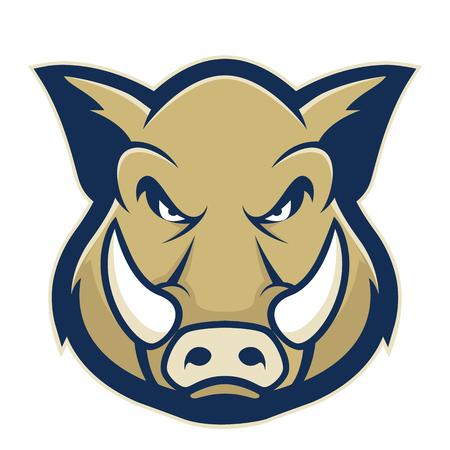 Ilustración de Wild hog or boar head mascot - Imagen libre de derechos