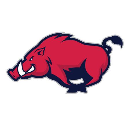 Illustration pour Wild hog or boar mascot - image libre de droit