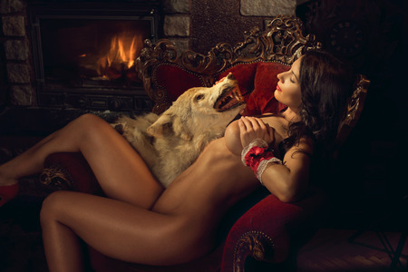 Photo for Sexy seductive Red Riding Hood - Royalty Free Image