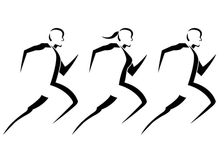 Foto de Running People Vector Illustration - Imagen libre de derechos