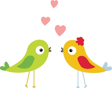 Illustration for birds with love - Royalty Free Image