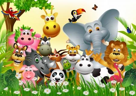 Illustration for Wild African animal cartoon - Royalty Free Image