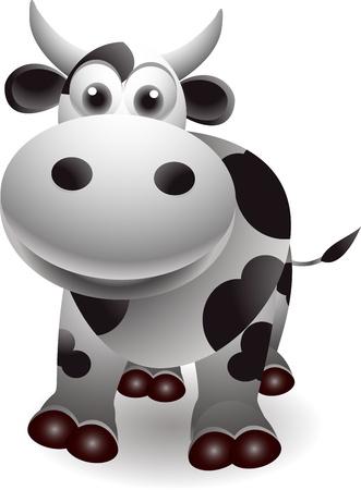 cute cow cartooon
