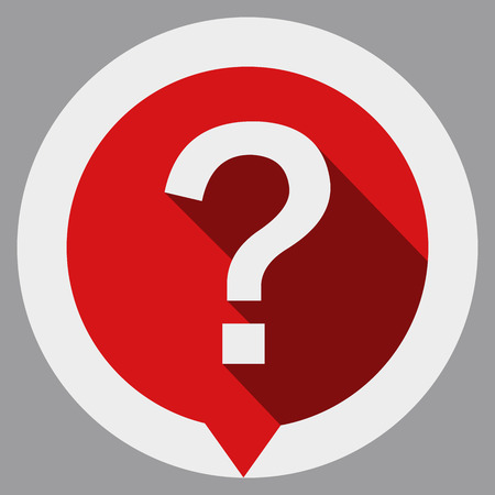 Illustration pour Question mark icon isolated on gray background. - image libre de droit