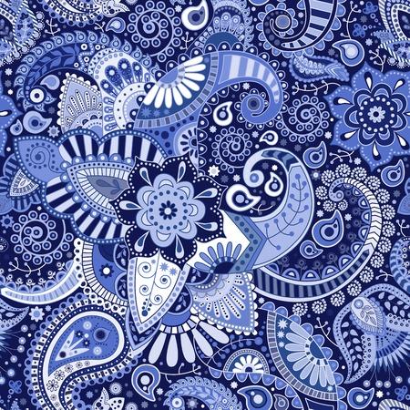 Ilustración de Paisley seamless pattern - Imagen libre de derechos