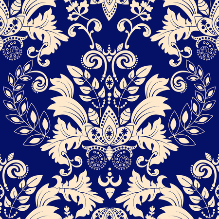 Photo for Vector Damask seamless pattern - Royalty Free Image