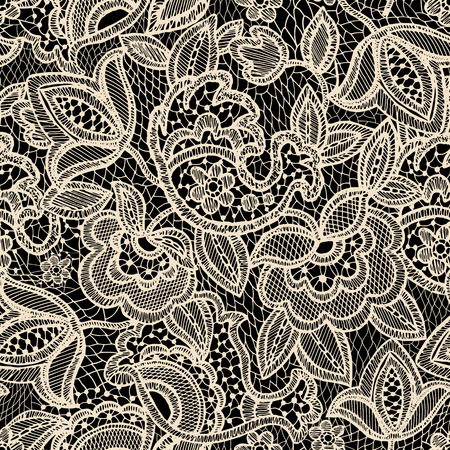 Illustration pour Lace seamless pattern. Vintage floral wallpaper - image libre de droit