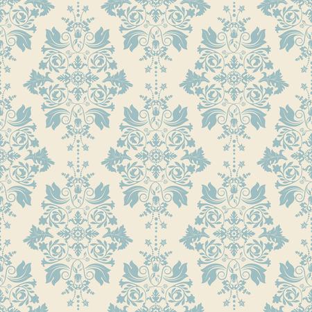 Illustration pour Seamless damask pattern, classic wallpaper, classic background - image libre de droit