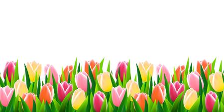Illustration pour Flowers seamless border - image libre de droit