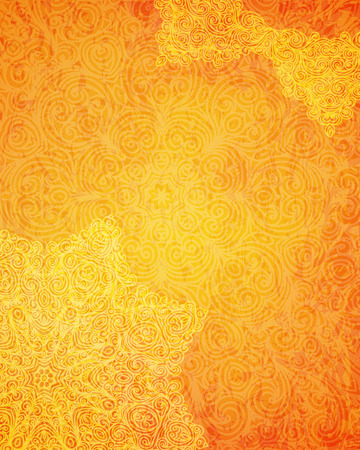 Illustration for Indian tribal orange pattern, vector illustration - Royalty Free Image