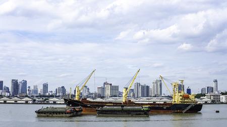 Foto per Landscape of port at Bangkok Thailand - Immagine Royalty Free