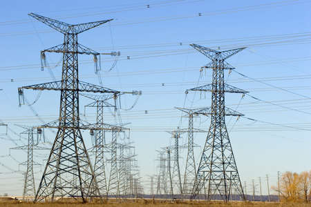 Rows of electrical towers