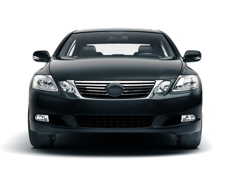 Photo for Luxury car in the studio on a light background - Royalty Free Image