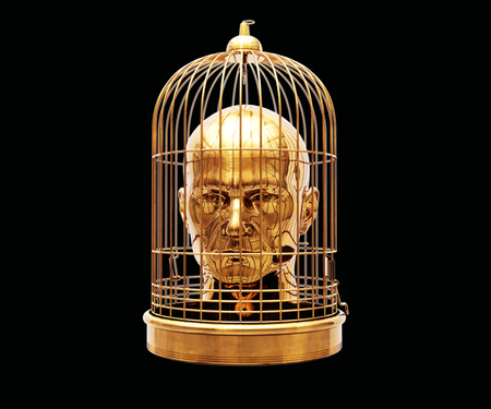 Foto de Man with a Cage on His Head, Free Himself, Freedom, Man Trapped, Prisoner in Cage, Employee Theft, Man Caged, Wedding Background, Business Discipline, Game Over, Stressed Man, Unlock Potential - Imagen libre de derechos