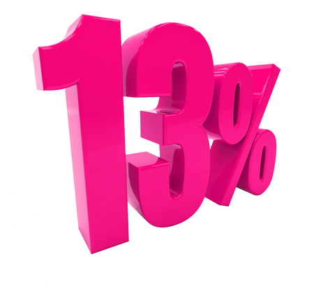 3d Illustration 13 Percent Discount Sign, Sale Up to 13  , 13 Sale,  Special Offer, Money Smarts Sticker,  Save On 13 Icon, 13 Off Tag, Budget-Friendly, Cost-Cutting Tricks, Low-Cost, Low-Priced