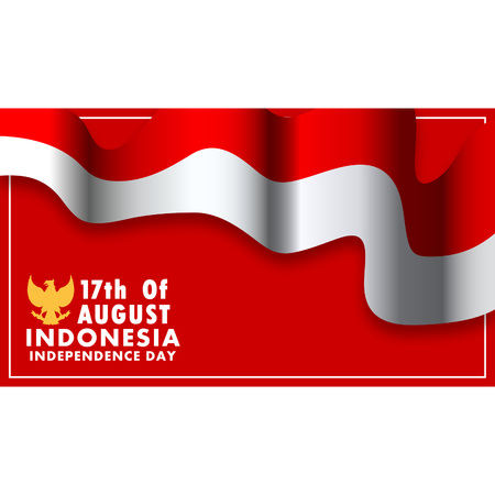 Illustration pour Vector background design of Indonesia independence day. Using  16:9 aspect ratio size. - image libre de droit