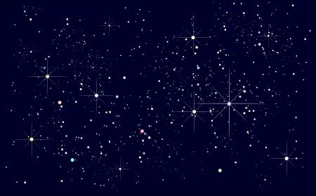 Illustration pour starry night sky - image libre de droit
