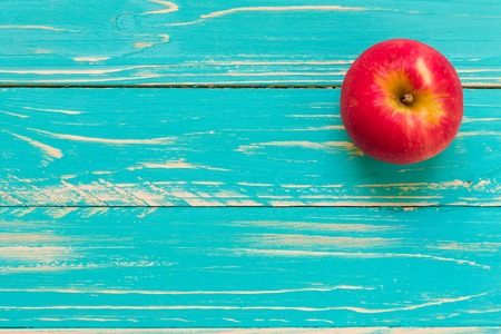 Photo for Apple on Vintage Wooden Background - Royalty Free Image