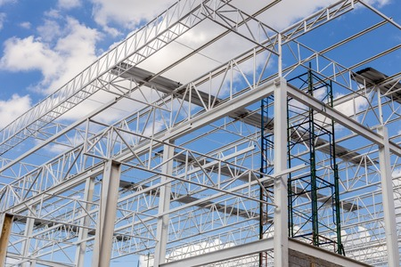 Foto per Steel Structure with Blue Sky Background - Immagine Royalty Free