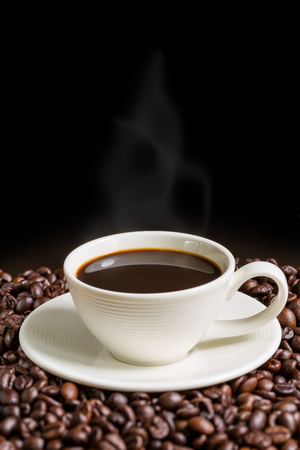 Photo for Coffee Cup on Black Background - Royalty Free Image