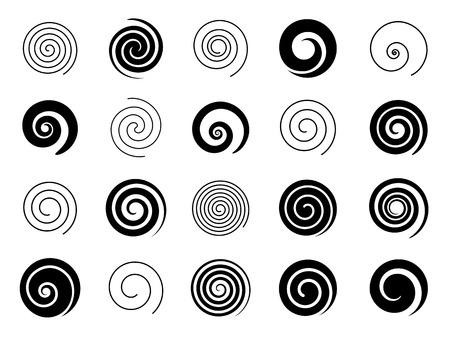 Ilustración de Set of spiral elements - Imagen libre de derechos
