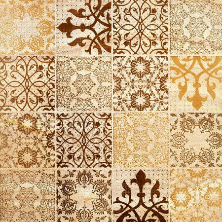 Photo pour Decorative brown sand stone tile background - image libre de droit