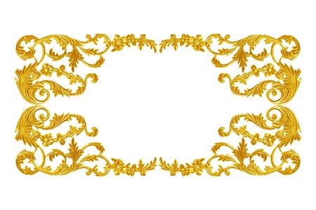 Foto de Ornament elements, vintage gold floral designs - Imagen libre de derechos