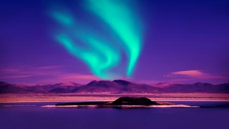 Photo pour Northern Lights aurora borealis - image libre de droit