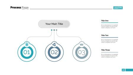 Illustration pour Three Business Ideas Slide Template - image libre de droit