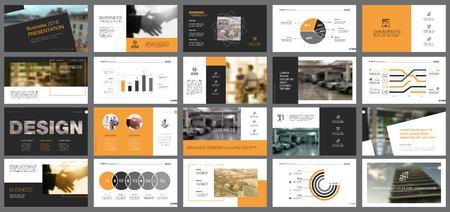 Illustration pour Business Slide Templates Set - image libre de droit