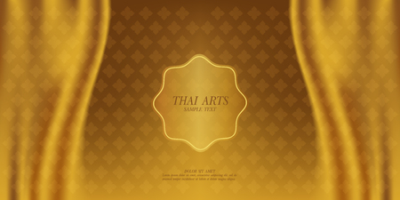 Illustration pour Thai Art vector background. - image libre de droit