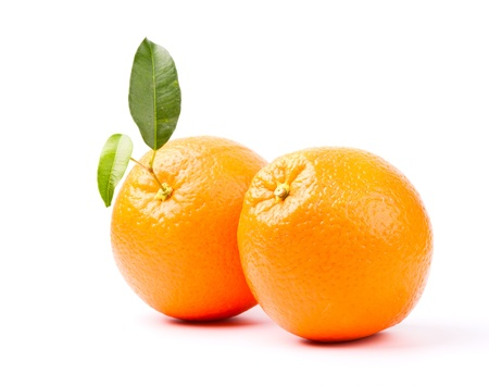 Photo pour oranges with leaf isolated on white background - image libre de droit