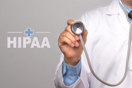 Photo for Doctor holding a stethoscope and word - Royalty Free Image