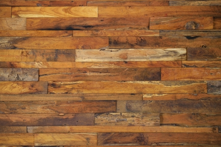 wood panels used as wall mural