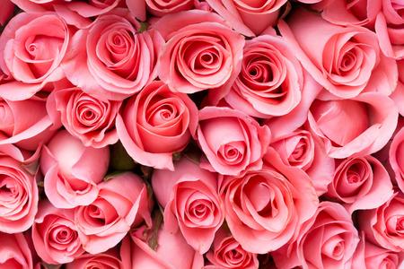 Foto de pink rose flower bouquet background - Imagen libre de derechos