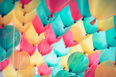 Photo pour colorful balloons with happy celebration party background - image libre de droit