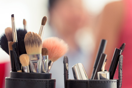 Foto de sets makeup brush for professional makeup artist - Imagen libre de derechos