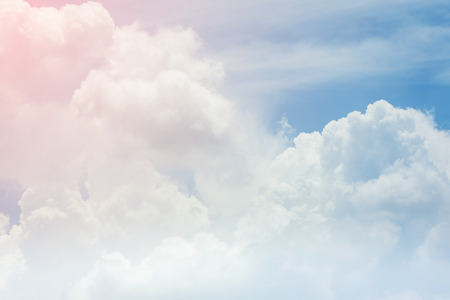 Photo for cloud on the sky background, cloudy weather with sunlight - Royalty Free Image