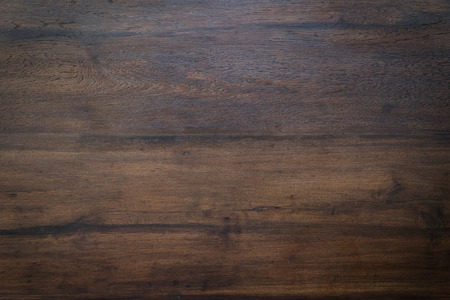 Photo pour wood brown grain texture, dark wood wall background, top view of wooden table - image libre de droit