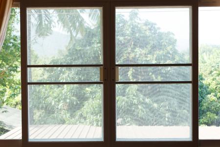 Foto de window mosquito wire screen plastic net protection from insect bug - Imagen libre de derechos