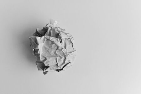 single paper wad ball rubbish in business office