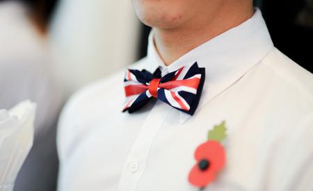 Foto de british bow tie - Imagen libre de derechos